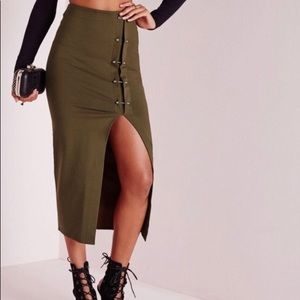 Misguided Army green Skirt